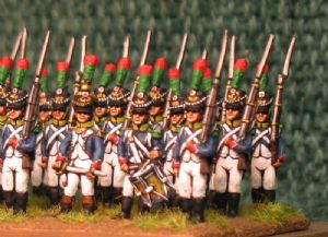 15mm, Napoleonic French Young Guard Voltigeurs 1809-1813 AB 24 Figures